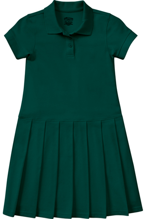 Classroom Uniforms Girls Pique Polo Dress SS Hunter Green (54122-SSHN)