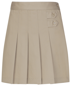 Classroom Uniforms Girls Stretch Pleated Tab Scooter Khaki (55121AZ-KAK)