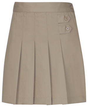 Classroom Girl's Girls Pleated Tab Scooter Khaki