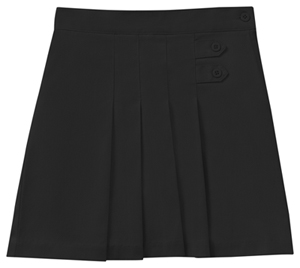 Classroom Uniforms Girls Plus Stretch Pleated Tab Scooter Black (55123AZ-BLK)