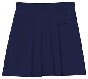 Classroom Uniforms Girls Plus Stretch Pleated Tab Scooter Dark Navy (55123AZ-DNVY)