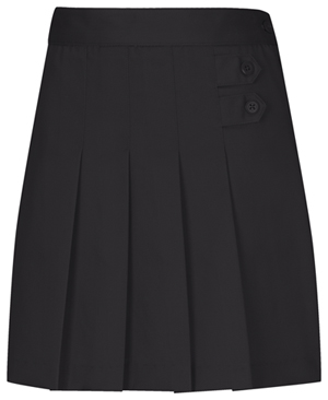 Classroom Girls Plus Pleated Tab Scooter (55123-BLK) (55123-BLK)