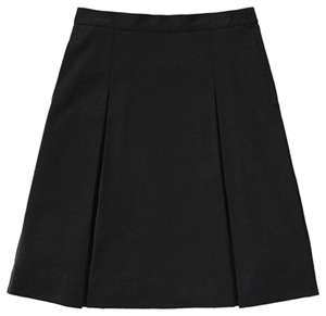 Classroom Uniforms Girls Ponte Knit Kick Pleat Skirt Black (55402AZ-BLK)