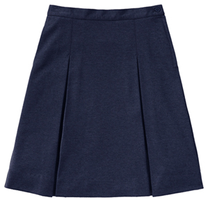 Classroom Uniforms Juniors Ponte Knit Kick Pleat Skirt Dark Navy (55404Z-DNVY)