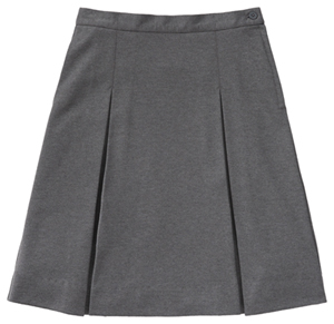 Classroom Uniforms Juniors Ponte Knit Kick Pleat Skirt Heather Gray (55404Z-HGRY)