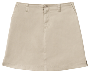 Classroom Girl's Girls Plus Stretch Fly Front Scooter Khaki