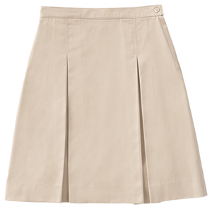 Classroom Uniforms Girls kick pleat skirt with inside adjus Khaki (55792A-KAK)