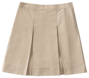 Classroom Junior's Juniors Kick Pleat Skirt Khaki
