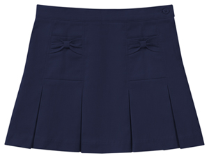 Classroom Uniforms Preschool Stretch Bow Pocket Scooter Dark Navy (55980Z-DNVY)