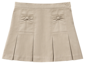 Classroom Uniforms Girls Stretch Bow Pocket Scooter Khaki (55982AZ-KAK)