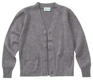 Classroom Uniforms Adult Unisex Cardigan Sweater Heather Gray (56434-HGRY)