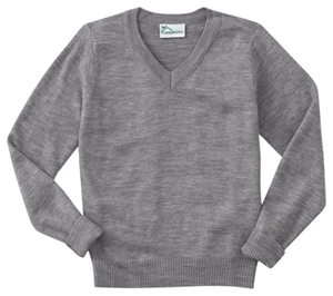 Classroom Adult Unisex Long Sleeve V-Neck Sweater (56704-HGRY) (56704-HGRY)