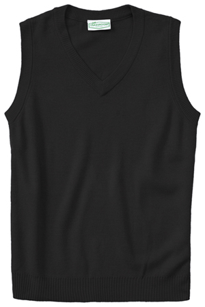 Classroom Uniforms Adult Unisex V-Neck Sweater Vest Black (56914-BLK)