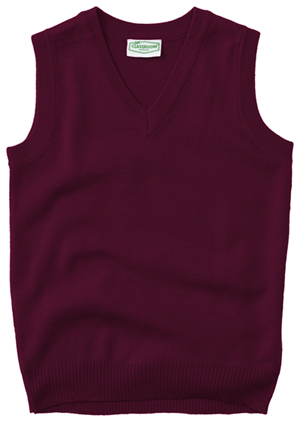 Classroom Unisex Adult Unisex V-Neck Sweater Vest Purple