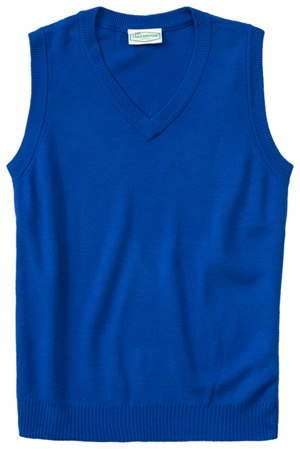 Classroom Uniforms Adult Unisex V-Neck Sweater Vest Royal (56914-ROY)