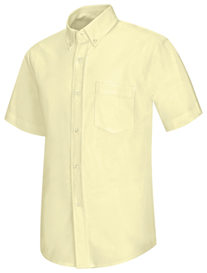 Classroom Boys Short Sleeve Oxford Shirt (57601-YEL) (57601-YEL)