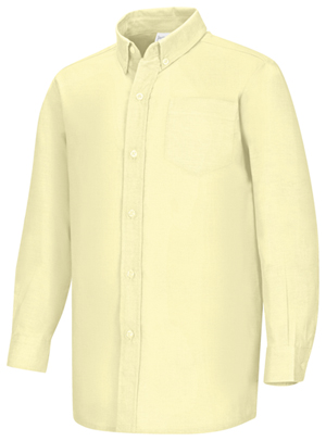 Classroom Uniforms Boys Long Sleeve Oxford Shirt Yellow (57651-YEL)