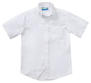 Classroom Boys Husky Short Sleeve Oxford (57663-WHT) (57663-WHT)