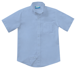 Classroom Uniforms Men's Short Sleeve Oxford Light Blue (57664-LTB)