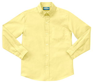 Classroom Uniforms Boys Long Sleeve Oxford Yellow (57672-YEL)