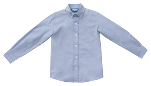 Classroom Uniforms Boys Long Sleeve Husky Oxford Light Blue (57673-LTB)