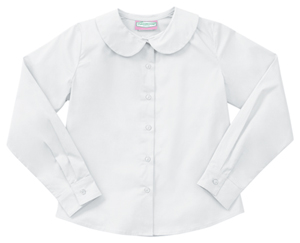 Classroom Uniforms Girls Long Sleeve Peter Pan Blouse White (57882-WHT)