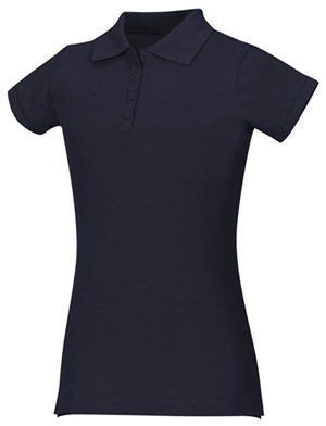 Classroom Girl's Girls Stretch Pique Polo Blue