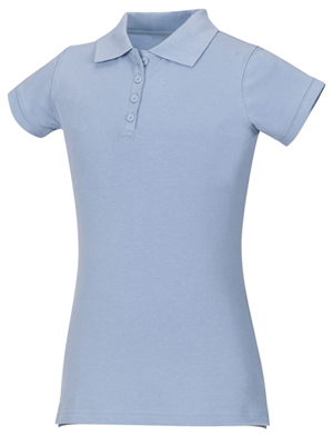 Classroom Uniforms Girls Stretch Pique Polo Light Blue (58222-LTB)
