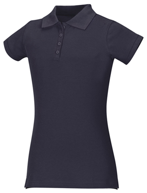 Classroom Uniforms Girls Stretch Pique Polo SS Navy (58222-SSNV)