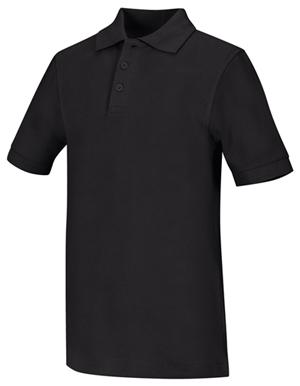 Classroom Child's Unisex Youth Unisex Short Sleeve Pique Polo Black