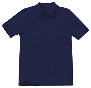 Classroom Youth Unisex Short Sleeve Pique Polo (58322-DNVY) (58322-DNVY)