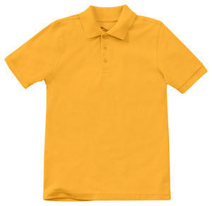 Classroom Uniforms Youth Unisex Short Sleeve Pique Polo Gold (58322-GOLD)
