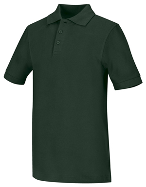 Classroom Uniforms Classroom Child's Unisex Youth Unisex Short Sleeve Pique Polo Green