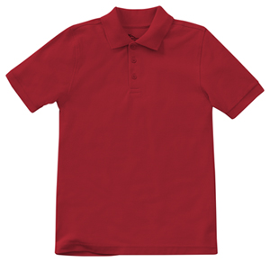 Classroom Child's Unisex Youth Unisex Short Sleeve Pique Polo Red