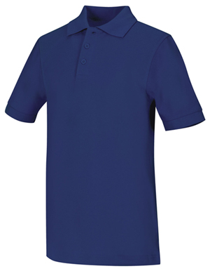 Classroom Youth Unisex Short Sleeve Pique Polo (58322-ROY) (58322-ROY)