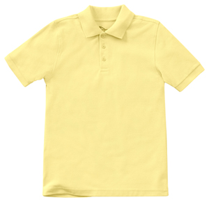 Classroom Child's Unisex Youth Unisex Short Sleeve Pique Polo Yellow