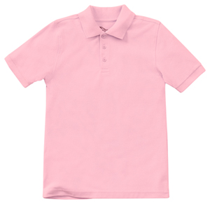 Classroom Uniforms Adult Unisex Short Sleeve Pique Polo Pink (58324-PINK)