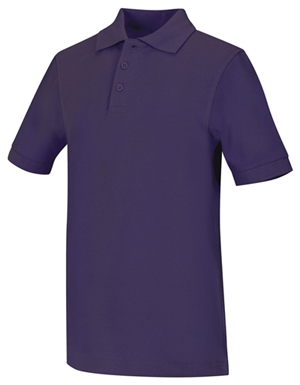Classroom Unisex Adult Unisex Short Sleeve Pique Polo Purple