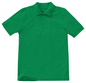 Classroom Uniforms Adult Unisex Short Sleeve Pique Polo SS Kelly Green (58324-SSKG)