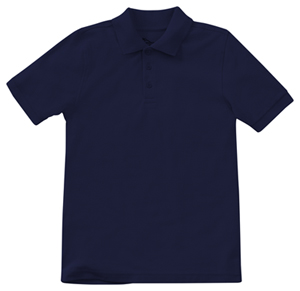 Classroom Uniforms Adult Unisex Short Sleeve Pique Polo SS Navy (58324-SSNV)