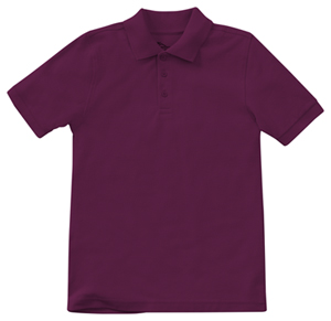 Classroom Adult Unisex Short Sleeve Pique Polo (58324-WINE) (58324-WINE)
