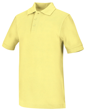 Classroom Unisex Adult Unisex Short Sleeve Pique Polo Yellow