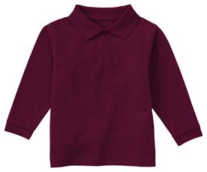 Classroom Uniforms Classroom Preschool Preschool Unisex LS Pique Polo Purple