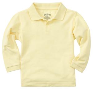 Classroom Preschool Preschool Unisex LS Pique Polo Yellow