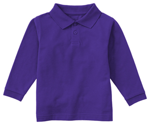 Classroom Youth Unisex Long Sleeve Pique Polo (58352-DKPR) (58352-DKPR)