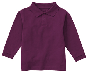 Classroom Uniforms Youth Unisex Long Sleeve Pique Polo Wine (58352-WINE)