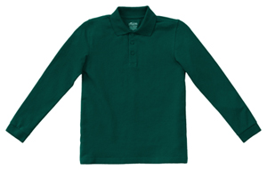 Classroom Uniforms Adult Unisex Long Sleeve Pique Polo SS Hunter Green (58354-SSHN)