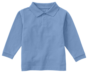 Classroom Uniforms Adult Unisex Long Sleeve Pique Polo SS Light Blue (58354-SSLB)