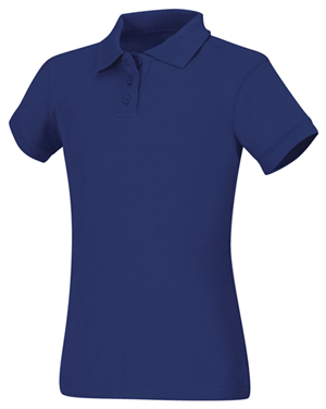 Classroom Girls Short Sleeve Fitted Interlock Polo (58582-ROY) (58582-ROY)
