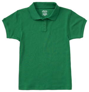 Classroom Girls Short Sleeve Fitted Interlock Polo (58582-SSKG) (58582-SSKG)